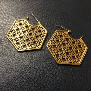 Tory Burch Gold Earrings pouch included